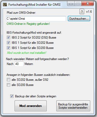 [TUT] Automatische Fortschaltung + Ansagen in allen Bussen (Programm) Omsi_fortschaltungsmod_installer